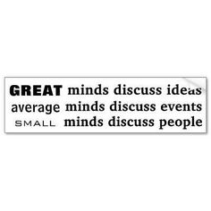 Great Minds.....no less....