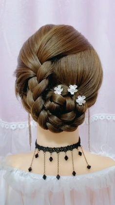 Updo Hairstyles Tutorials, Bride Hairstyles, Cute Hairstyles, Medium Hair Styles, Long Hair Styles, Hair Upstyles, Hair Videos, Hair Hacks, Hair Makeup