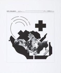 1975: COLLAGES 9-Kunstgrafik, Wolfgang Weingart