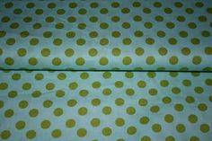 Baumwolle Punkte hellblau/grün