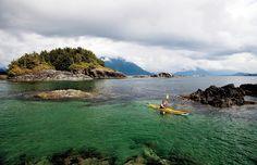 Kayaking off Vancouver Island, British Columbia
