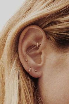 Meet the Best Piercing Parlor in Los Angeles: Body Electric Tattoo - Ramshackle . Meet the Best Piercing Parlor in Los Angeles: Body Electric Tattoo - Ramshackle Glam - earrings a plenty but minimal - And Body Art Piercings Bonitos, Mens Body Tattoos, Body Art Tattoos, Tattoos Skull, Ear Jewelry, Cute Jewelry, Jewelry Ideas, Rook Piercing Jewelry, Pandora Jewelry