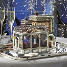 """Department 56: Products - """"Snow Village 30th Anniversary Ball"""" - View Lighted Buildings"""