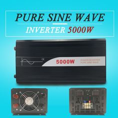 980.00$  Buy here - http://ali4f5.worldwells.pw/go.php?t=32753348137 - hot sale power inverter 5000W 12v 24v 48v dc to ac 110v 120v 220v pure sine wave off grid for home use