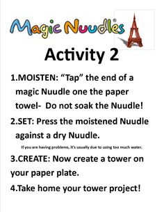 Build a tower with Magic Nuudles! Paper Towel Crafts, Engineering Programs, 2 Set, Crafts For Kids, Tower, Magic, Activities, Fun, Grandkids