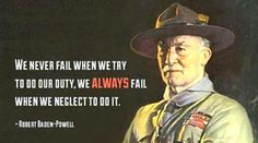 Baden Powell saying: