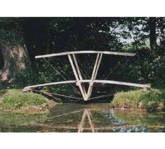 """Bowstring Truss"" Series of individualistic bridges made homegrown timbers by Richard & Mary La Trobe-Bateman"