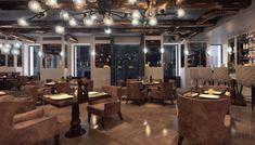 Koursaros Restaurant | Maria Kardami | Interior Designer Conference Room, Restaurant, Interior Design, Table, Furniture, Home Decor, Nest Design, Decoration Home, Home Interior Design