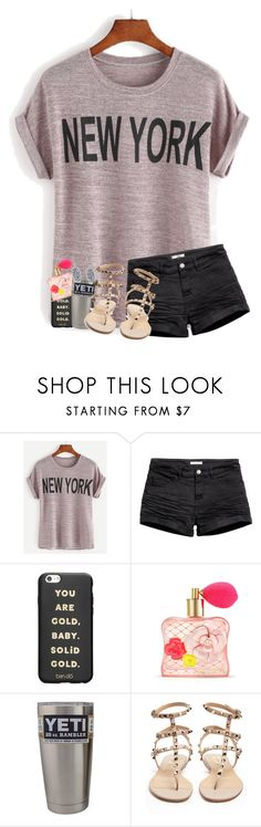 """""""welcome to New York, it's been waiting for you"""" by legitmaddywill ❤ liked on Polyvore featuring H&M, ban.do, Victoria's Secret, Valentino and Kendra Scott"""