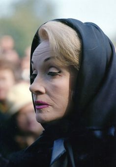 Marlene Dietrich at Édith Piaf's funeral, 1963.