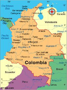 a geographical study of colombia We will tell you more about a fascinating country - colombian customs, history,   the geographical makeup of colombia, with its treacherousness of the terrain.