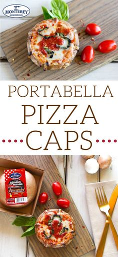 Portabella Pizza Caps There's never been quite a healthy pizza recipe like this! Skip the crust and instead, serve up your tomato sauce and toppings in a portabella mushroom cap. This is a delicious healthy dinner recipe that the whole family will love. Portabella Pizza, Grilled Portabella Mushrooms, Portabella Mushroom Pizza Recipe, Cheap Clean Eating, Clean Eating Snacks, Healthy Eating, Healthy Pizza Recipes, Vegetarian Recipes, Stuffed Mushroom Caps