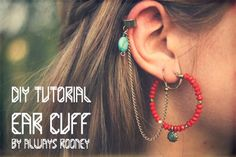 ::: OutsaPop Trashion ::: DIY fashion by Outi Pyy :::: DIY ear cuff tutorial Funky Jewelry, Diy Jewelry, Beaded Jewelry, Handmade Jewelry, Jewelry Making, Jewelry Ideas, Jewellery, Cuff Earrings, Clip On Earrings