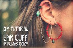 ::: OutsaPop Trashion ::: DIY fashion by Outi Pyy :::: DIY ear cuff tutorial