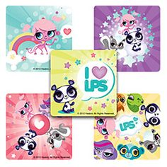 Sticker Pack   Littlest Pet Shop   75 Ct