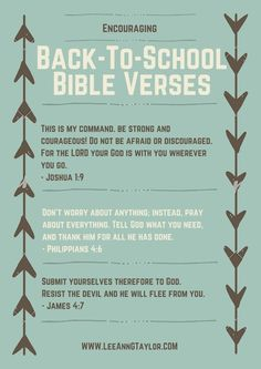 encouraging bible verses for back to school - scripture for kids - parenting with purpose - creating a God-centered home: