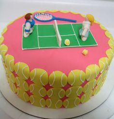 tennis cake by alibethcakes, via Flickr #coolcakes #tennisparty #tennistheme