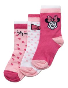 3 Pack Baby Minnie Mouse Socks | | George at ASDA