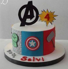 Avengers - Cake by Maira Liboa - Visit to grab an amazing super hero shirt now on sale! Avengers Birthday Cakes, Superhero Birthday Cake, 4th Birthday Cakes, Pastel Marvel, Pastel Avengers, Bolo Tumblr, Gateau Harry Potter, Marvel Cake, Batman Cakes