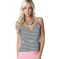 B&W Peplum Tank available at www.SophieandTrey.com shop online with code 'STMEGAN10' & get 10% off your purchase of $50 or more!! Follow @Sophie & Trey & @megannnclary on Instagram!
