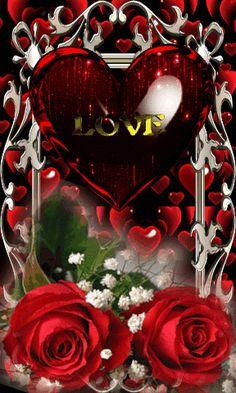 I love you Flower Phone Wallpaper, Heart Wallpaper, Cellphone Wallpaper, Love Heart Images, Love You Images, Beautiful Love Pictures, Beautiful Gif, Gifs Disney, Gif Bonito