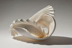 esculturas de papel de Richard Sweeney