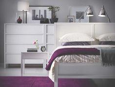 18 White Modern Bedroom Furniture Set