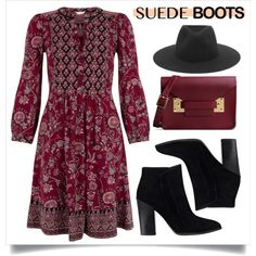A fashion look from October 2015 featuring Monsoon dresses, GUESS ankle booties and Sophie Hulme clutches. Browse and shop related looks.