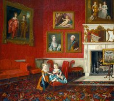 Johan Zoffany: George, Prince of Wales, and Frederick, later Duke of York, at Buckingham House, 1765.