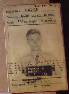 "Document Richard D. ""Dick"" Winters - Easy Company, 2e bataljon, 506th Parachute Infantry Regiment, 101st Airborne Division."