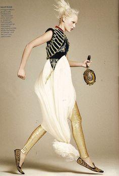 """Sasha Pivovarova in Alexander McQueen - US Vogue September 2008 US Editorial """"Noble Endeavor""""   Flickr - Photo Sharing!"""
