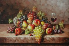 Resultado de imagen para bodegon de frutas con uvas