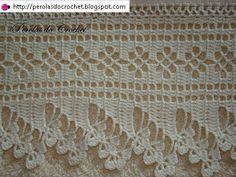 Barradinho de crochet super delicado.. Usei linha bem fina de algodão de agulha 0,95mm. GRÁFICO CLIQUE AQUI