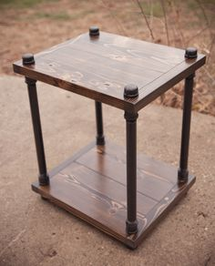 Nightstand FREE SHIPPING Pallet and Pipes Industrial Nightstand Reclaimed Pallet Wood Side Table Reclaimed Wood