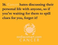 Cancer- if i do its bexause you are the one i gave my trust to :)