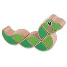 Wiggling Worm - Wooden grasping toy from <em>Melissa & Doug</em>