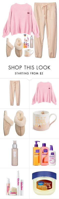 """""""Morning 😴"""" by lucy-wild ❤ liked on Polyvore featuring Gap, UGG Australia, Slant, Clinique, Clean & Clear, Bliss and Vaseline"""