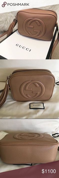 9d771df3b52bed Gucci Soho Disco Bag Beige New The most requested bag in Rose Beige is  available now