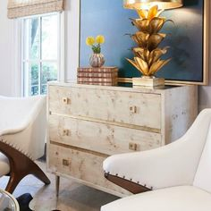 """If you have scrolled through some of our favorite Made Goods and Worlds Away products, you have noticed that many are available with """"faux shagreen"""" finishes and that select collections boast burled wood. As one of our favorite ways to add subtle texture to... #arteriorshome #burlwood #emporiumhome"""