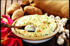 When Grandma served this filling, satisfying casserole, she didn't bother making an entree. #casserole #potato #mushroom