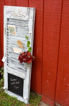 Turn an old shutter into a new DIY home decoration.