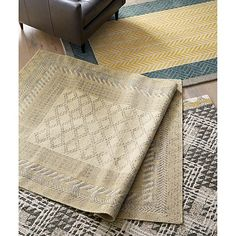Rosalie Neutral Rug | Crate and Barrel