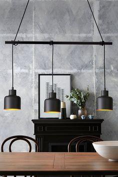 Ellos Home Taklampa Rafael - Svart - Hem & inredning - Ellos.se Interior Lighting, Lighting Design, Modern Lighting, Yellow Accent Chairs, Led Desk Lamp, Modern Kitchen Design, Inspired Homes, Spotlights, Diy Design