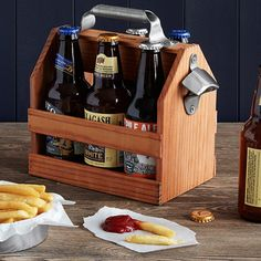 Look what I found at UncommonGoods: Wooden Beer Caddy with Bottle Opener for AUD Wooden Beer Caddy, Support Mobile, Cool Fathers Day Gifts, Beer Caps, Unique Gifts For Men, Unusual Gifts, 6 Pack, Beer Gifts, Top Gifts