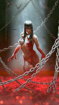 Fantasy Art Women, Beautiful Fantasy Art, Dark Fantasy Art, Fantasy Girl, Fantasy Artwork, Bd Comics, Horror Comics, Comics Girls, Horror Art