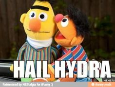 Hail hydra! Bahaha Only captain America fans will understand.