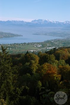 Beautiful view from the top of Üetliberg of Lake Zurich and the alps…