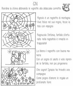 riordina con didascalia Italian Grammar, Italian Language, Italian Lessons, Reading Worksheets, Learning Italian, Guided Reading, Primary School, Teaching Kids, Activities For Kids