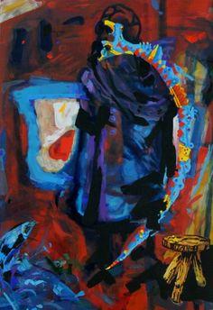 Retrato simbólico semi abstracto