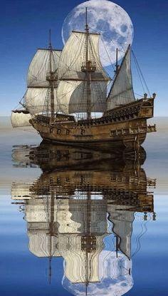 Poder Naval, New Nature Wallpaper, Luxury Sailing Yachts, Pirate Boats, Old Sailing Ships, Ship Drawing, Boat Projects, Ship Paintings, Boat Art
